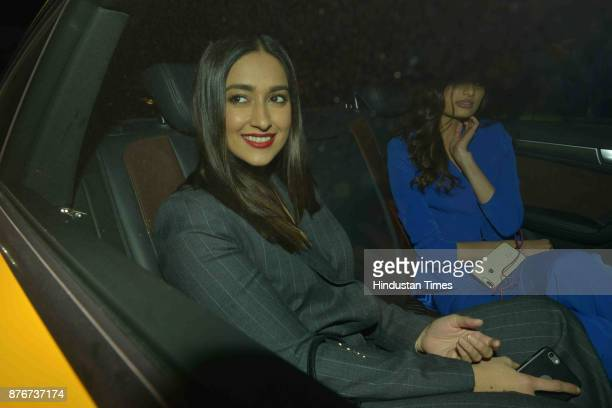 Bollywood actor Ileana D'Cruz arrives at party thrown by Farha khan for English singer ED Sheeran at her residence Oberoi sky high Andheri West on...