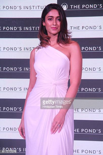 Bollywood actor Ileana D'Cruz during the launch of Pond's Institute and Pond's Skincare products at Four Seasons Worli on October 18 2016 in Mumbai...