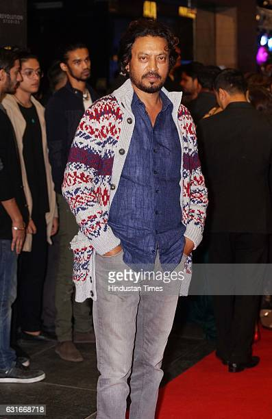 Bollywood actor Irrfan Khan at the red carpet of premier of 'xXx Return of Xander Cage' movie on January 12 2017 in Mumbai India 'xXx Return of...