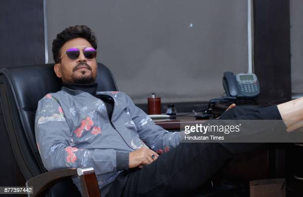 """Bollywood actor Irrfan Khan during an exclusive interview with HT City-Hindustan Times for the promotion of his upcoming movie """"Qarib Qarib Singlle""""..."""