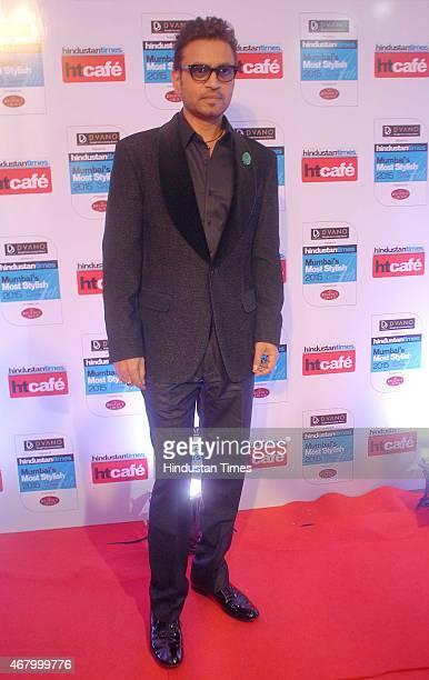 Bollywood actor Irrfan Khan during the Hindustan Times Mumbai's Most Stylish Awards 2015 at JW Mariott Hotel, Juhu on March 26, 2015 in Mumbai, India.