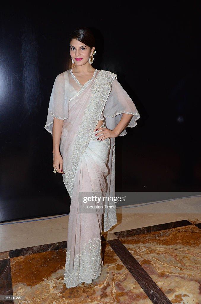 Bollywood actor Jacqueline Fernandez at Lakme Fashion Week Summer/Resort 2015 on March 22 2015 in Mumbai India