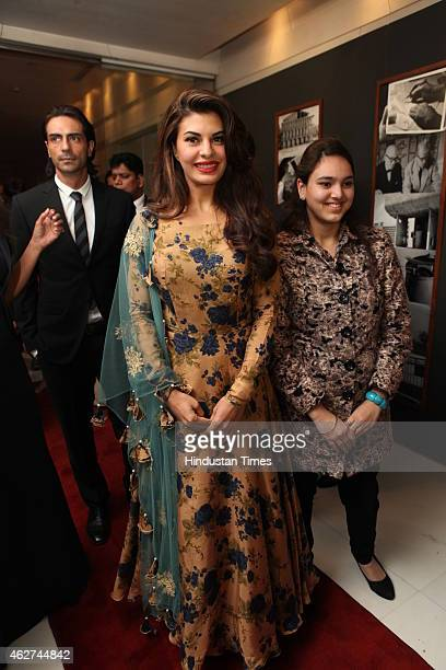 Bollywood actor Jacqueline Fernandez during India Art Fair closing party at Le Meridien on February 1 2015 in New Delhi India