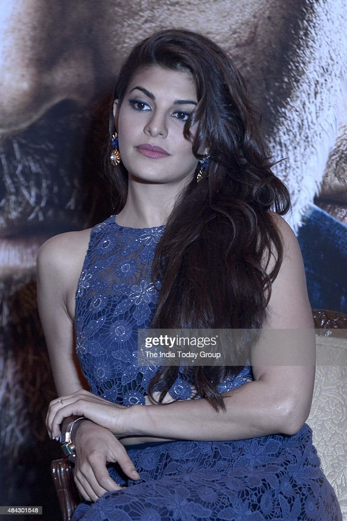 Bollywood Actor Jacqueline Fernandez during the promotion of her upcoming movie Brothers at New Delhi