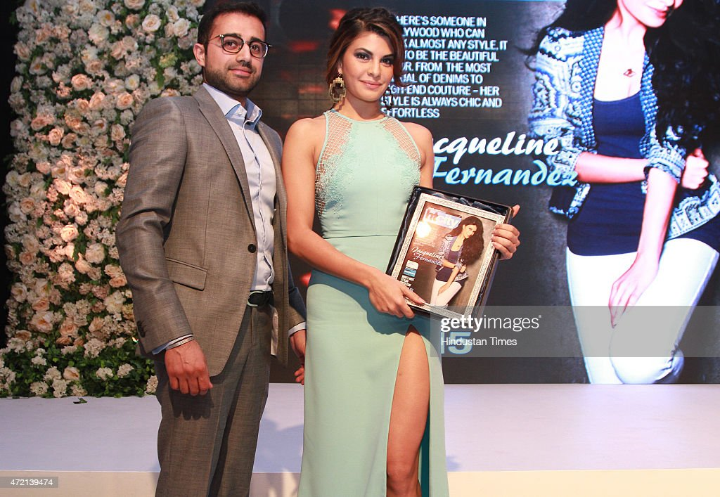 Bollywood actor Jacqueline Fernandez recieves the India`s Most Stylish Youth Icon 2015 award at the Hindustan Times Delhis Most Stylish 2015 award...