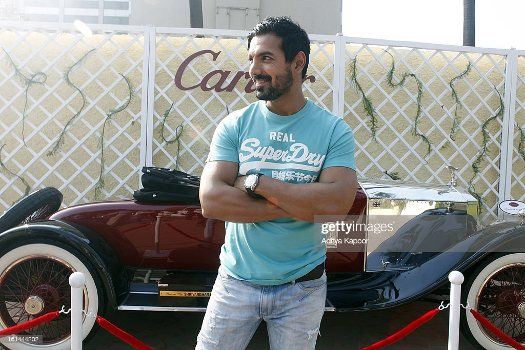 Bollywood actor John Abraham at the Cartier 'Travel With Style' Concours 2013 Opening at Taj Lands End on February 10, 2013 in Mumbai, India.