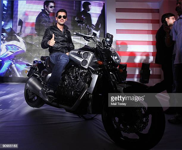 Bollywood actor John Abraham at the launch of Yamaha's new superbike 'VMAX' in New Delhi on Wednesday September 16 2009