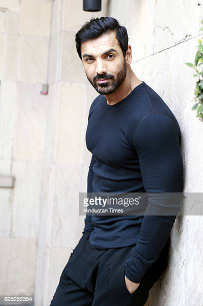 Bollywood actor John Abraham poses during the promotion of his upcoming movie Force2 with HT CityHindustan Times at Hotel Hyatt Regency on November...