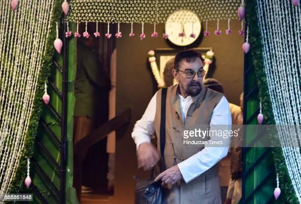 Bollywood actor Kabir Bedi during a condolence meeting of late actor Shashi Kapoor at Prithvi Theatre Juhu on December 7 2017 in Mumbai India Shashi...