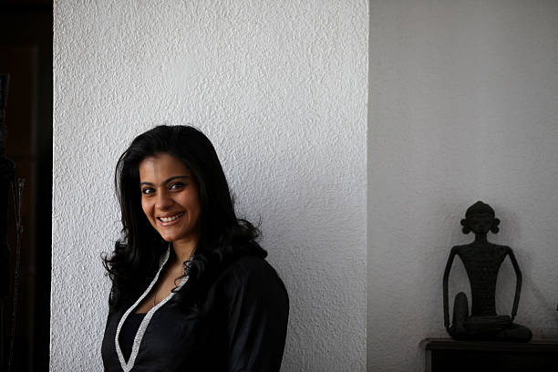 Bollywood actor Kajol poses for the photographs during the press meet for her upcoming film Toonpur ka Superhero at Juhu on Tuesday