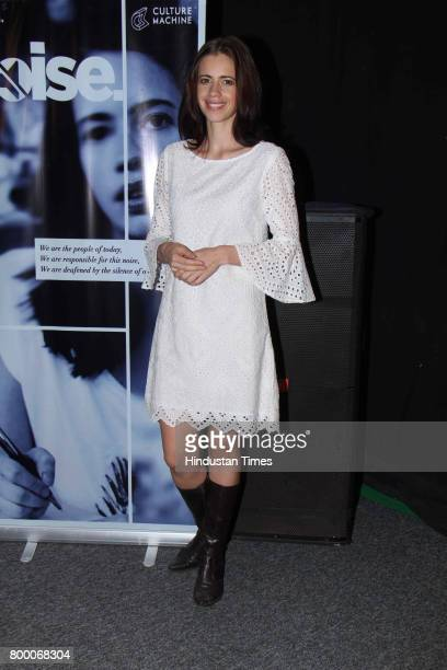 Bollywood actor Kalki Keochlin attends special preview of NOISE at Culture Machine office Goregaon on June 20 2017 in Mumbai India