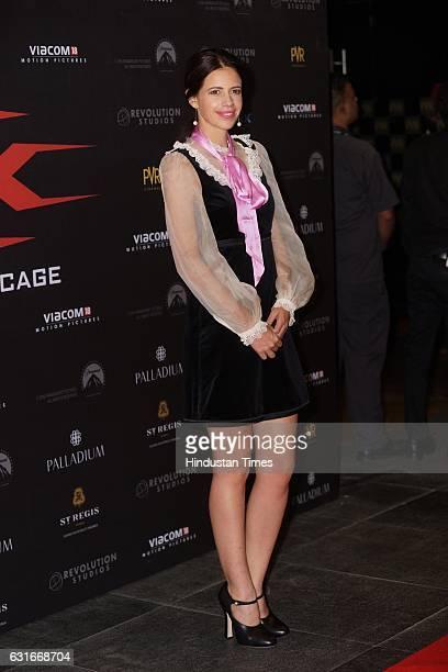 Bollywood actor Kalki Koechlin at the red carpet of premier of 'xXx Return of Xander Cage' movie on January 12 2017 in Mumbai India 'xXx Return of...