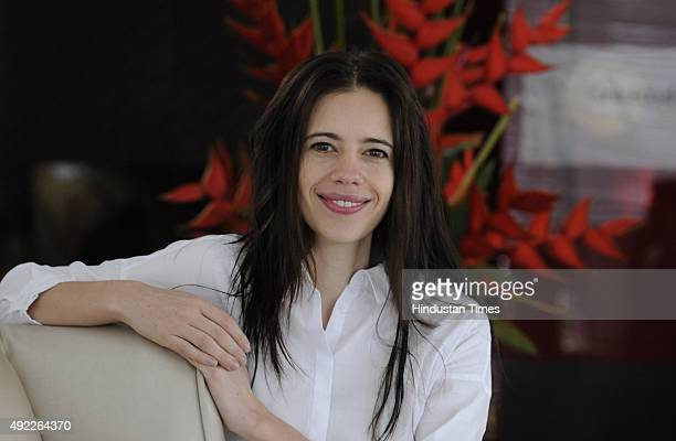 Bollywood actor Kalki Koechlin during an interview at a Hotel on October 11 2015 in Gurgaon India
