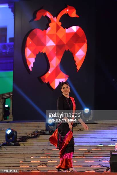 Bollywood actor Kareena Kapoor Khan walks from the podium during the inauguration of the 10th Edition of Bangalore International Film Festival 2018...