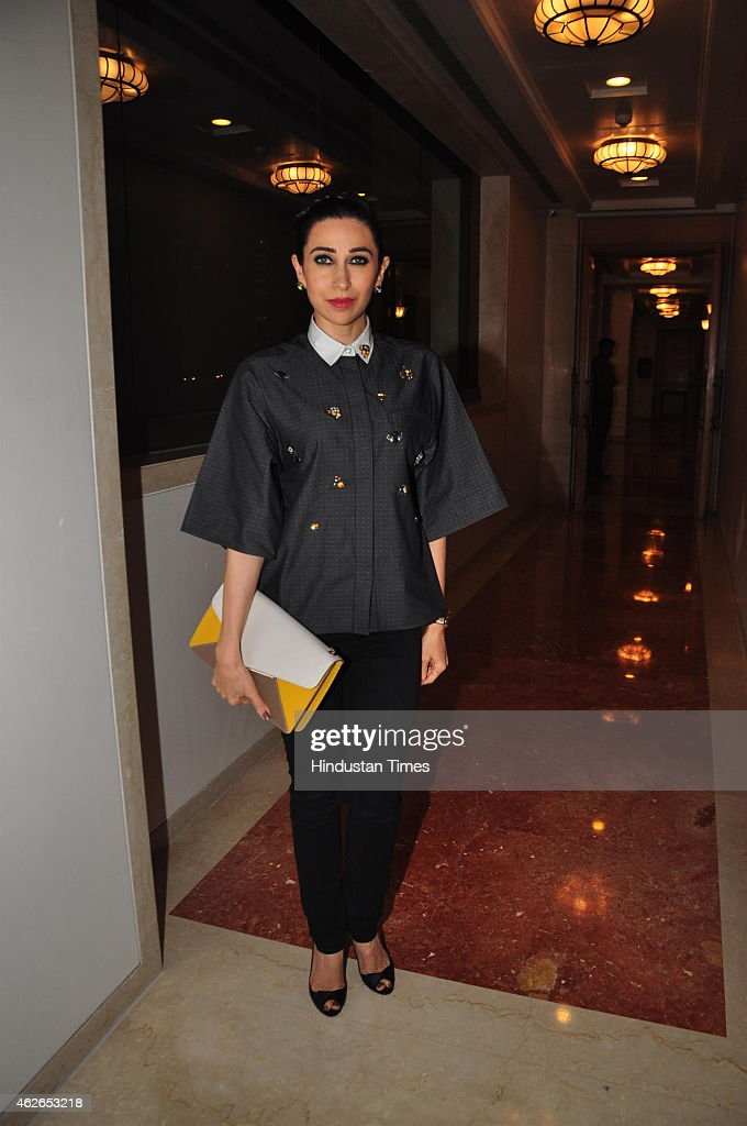 Bollywood actor Karisma Kapoor at the launch of Dhananjay Datars Masala King Store on January 29 2015 in Mumbai India