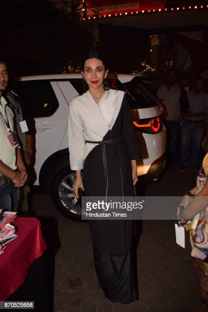 Bollywood actor Karisma Kapoor during an opening ceremony of Prthivi's annual theatre festival on November 3 2017 in Mumbai India