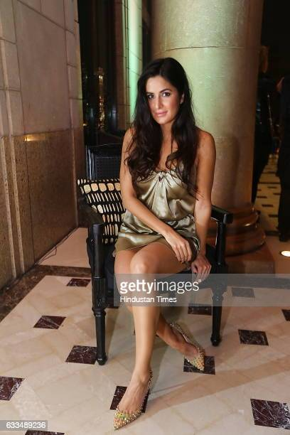 Bollywood actor Katrina Kaif during a party to welcome legendary Peruvian photographer Mario Testino on January 31 2017 in New Delhi India Testino is...