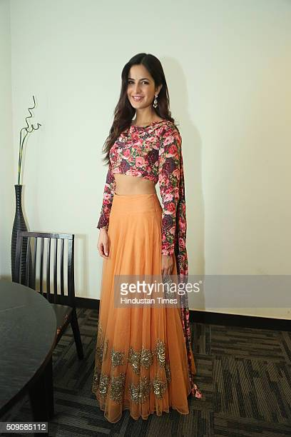 Bollywood actor Katrina Kaif during an interview for the promotion of her upcoming film Fitoor at HT Media Office on February 3 2016 in New Delhi...