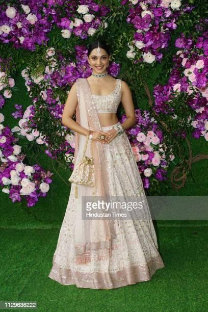 Bollywood actor Kiara Advani attending the wedding ceremony of Akash Ambani at JIO World Centre BKC on March 9 2019 in Mumbai India On Saturday India...