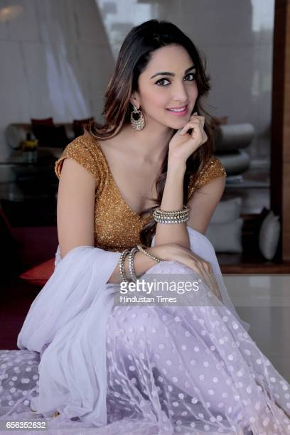 Bollywood actor Kiara Advani poses during an exclusive interview with HT CityHindustan Times at Hotel Taj Vivanta Dwarka on October 25 2016 in New...