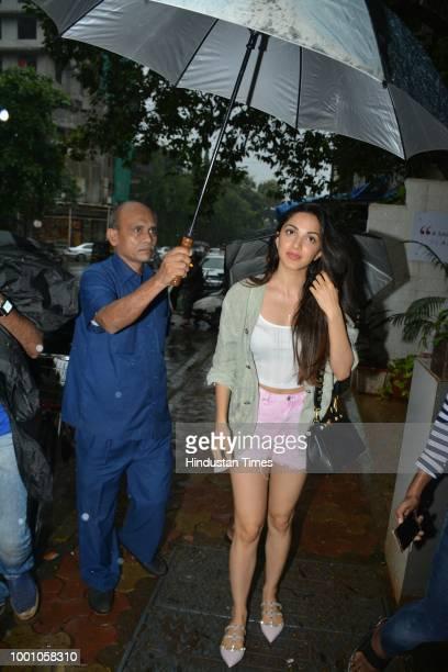 Bollywood actor Kiara Advani spotted on July 14 2018 in Mumbai India