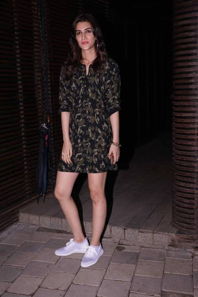 Bollywood actor Kriti Sanon during a birthday party of film producer and director Aanand L Rai at Estella Juhu on June 28 2018 in Mumbai India