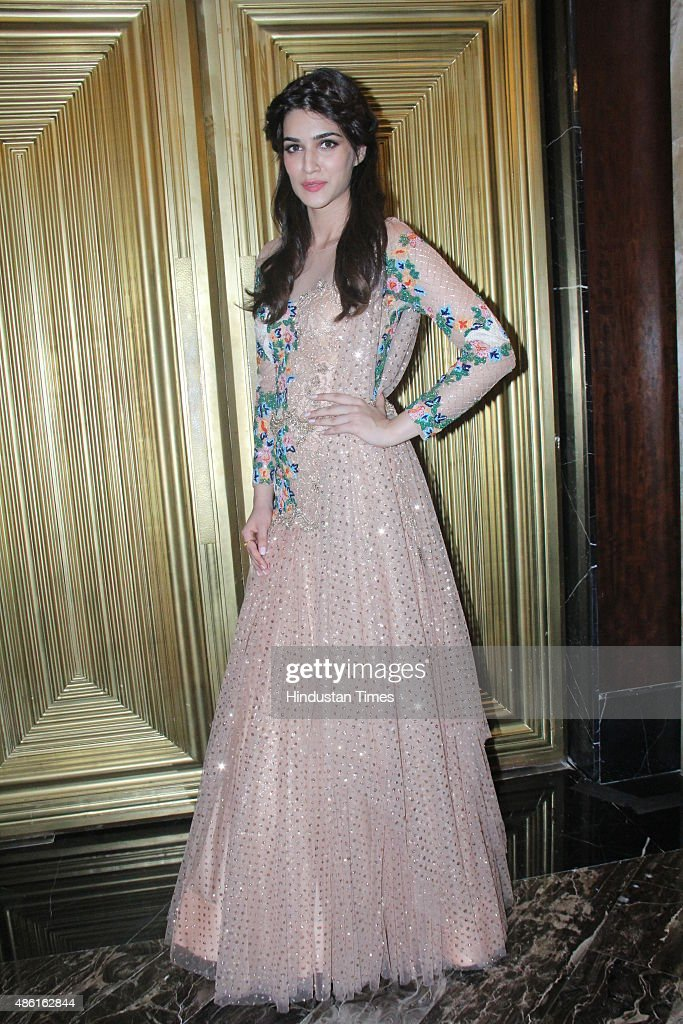 Bollywood actor Kriti Sanon during the Lakme Fashion Week Winter/Festive 2015 on August 30 2015 in Mumbai India