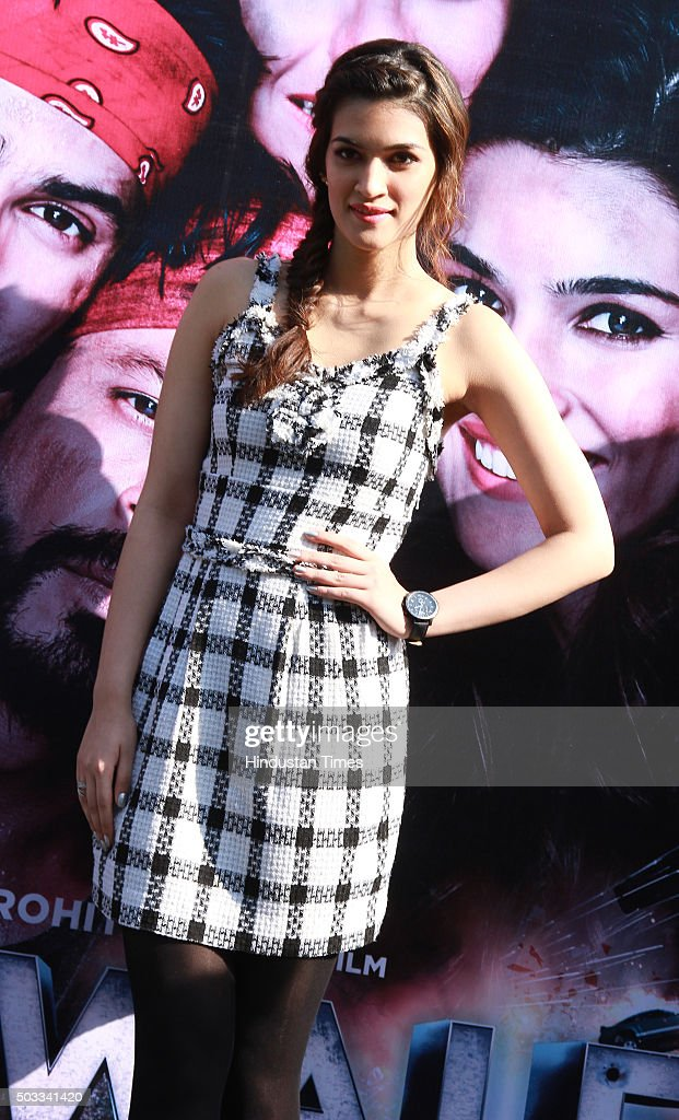 Bollywood actor Kriti Sanon during the promotion of her upcoming movie Dilwale at Dusit Devarana on December 16 2015 in New Delhi India