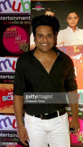 Bollywood actor Krushna Abhishek attended an event in Andheri on August 3 2018 in Mumbai India