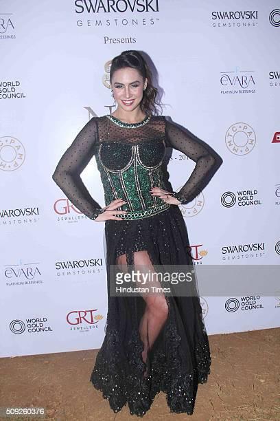 Bollywood actor Lauren Gottlieb during the Swarovski Gemstones National Jewellery Awards 201516 on February 6 2016 in Mumbai India