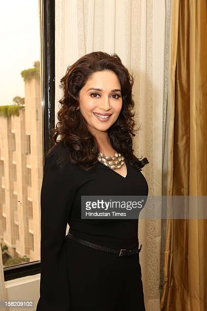 Bollywood actor Madhuri Dixit poses on December 7 2012 in New Delhi India