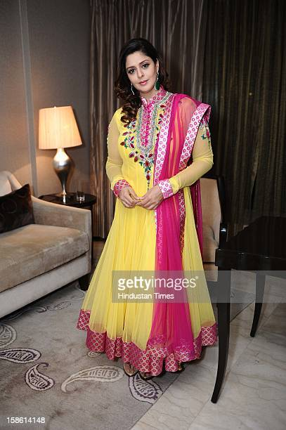 Bollywood actor Nagma during unveiling of Regal Couture Collection and MakeUp Trends 2013 by Designer Preeti Ghai and makeup expert Aashmeen Munjaal...