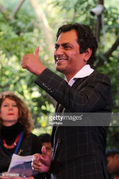 Bollywood actor Nawazuddin Siddiqui during the Jaipur Literature Festival 2018 at Diggi Palace in Jaipur Rajasthan India on 26 Jan 2018
