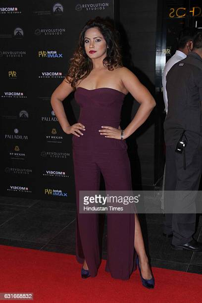 Bollywood actor Neetu Chandra at the red carpet of premier of 'xXx Return of Xander Cage' movie on January 12 2017 in Mumbai India 'xXx Return of...
