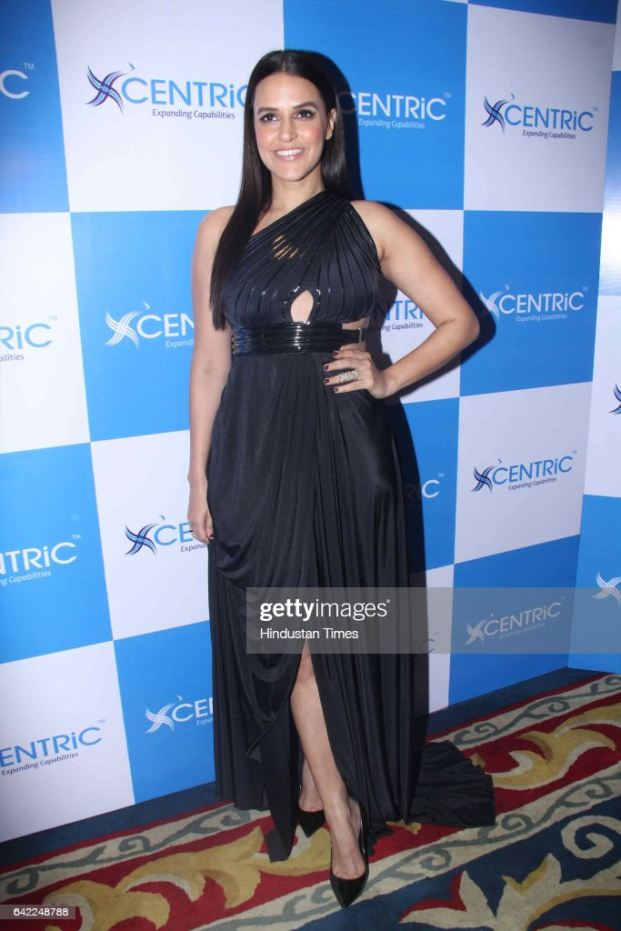 Bollywood actor Neha Dhupia during the launch of Centric Smartphones new range, at ITC Maratha, Andheri, on February 15, 2017 in Mumbai, India.