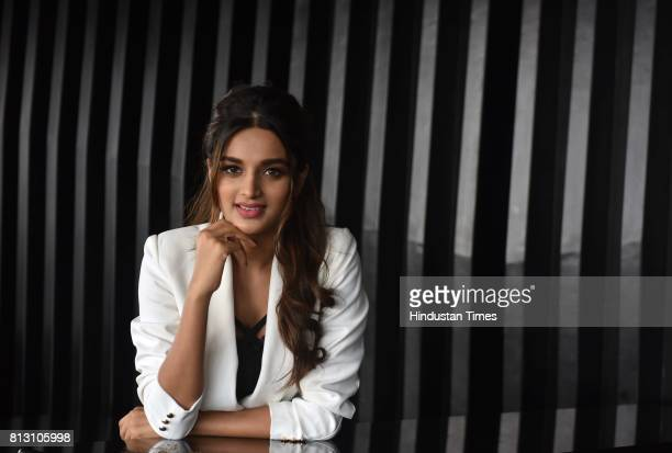 Bollywood actor Nidhhi Agerwal during an exclusive interview with Hindustan Times for the promotion of upcoming movie Munna Michael at Penthouze...