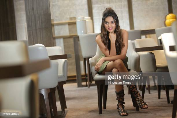 Bollywood actor Nidhhi Agerwal poses during an exclusive interview with HT CityHindustan Times for the promotion of a movie 'Munna Michael' on July...