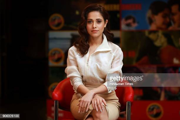 Bollywood actor Nushrat Bharucha poses during an interview with HT CityHindustan Times for the promotion of upcoming movie 'Sonu Ke Titu Ki Sweety'...