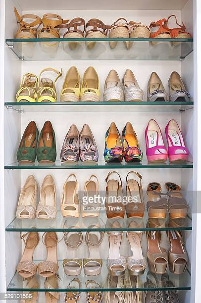 Bollywood actor Prachi Desai's closet displayed during an exclusive interview with ht48hoursHindustan Times at her house in Andheri on January 22...