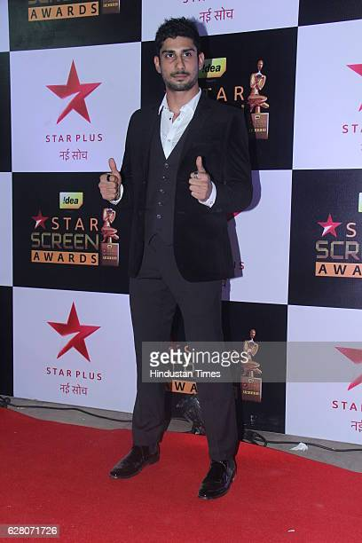 Bollywood actor Prateik Babbar during the 23rd Annual Star Screen Awards 2016 on December 4 2016 in Mumbai India