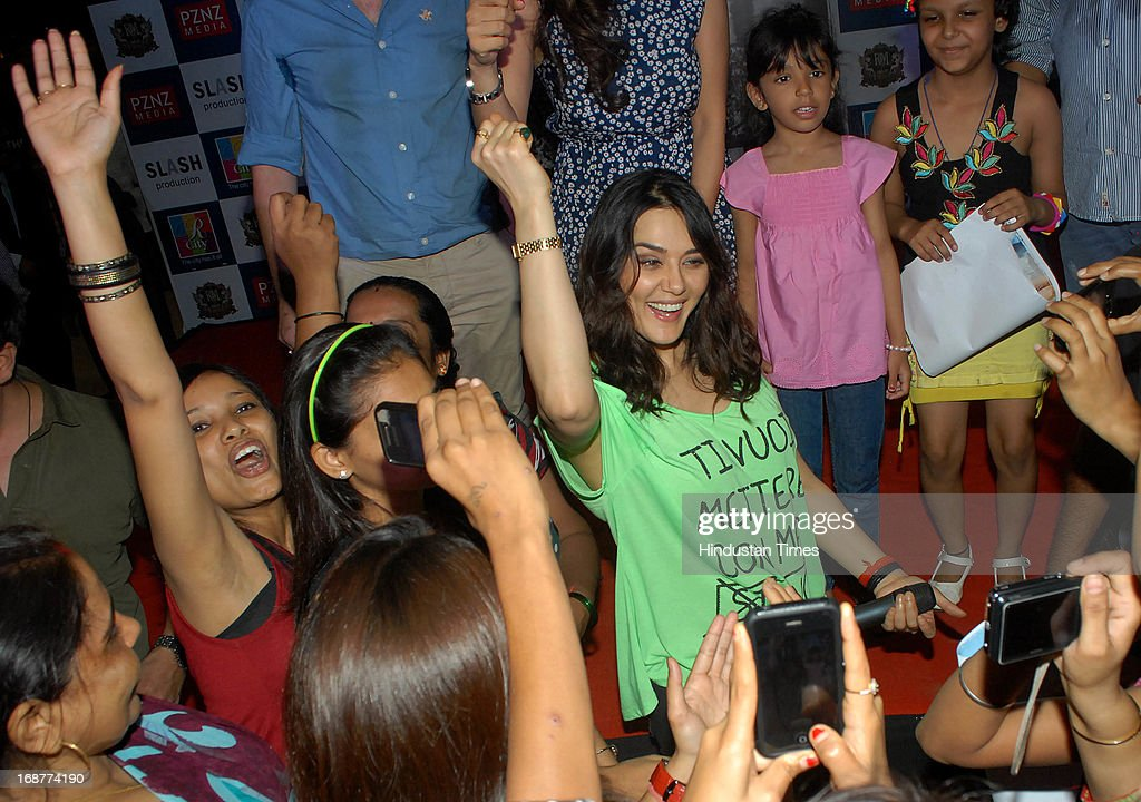 Bollywood actor Preity Zinta at promotion of upcoming film Ishq in Paris in R city Mall on May 12 2013 in Mumbai India