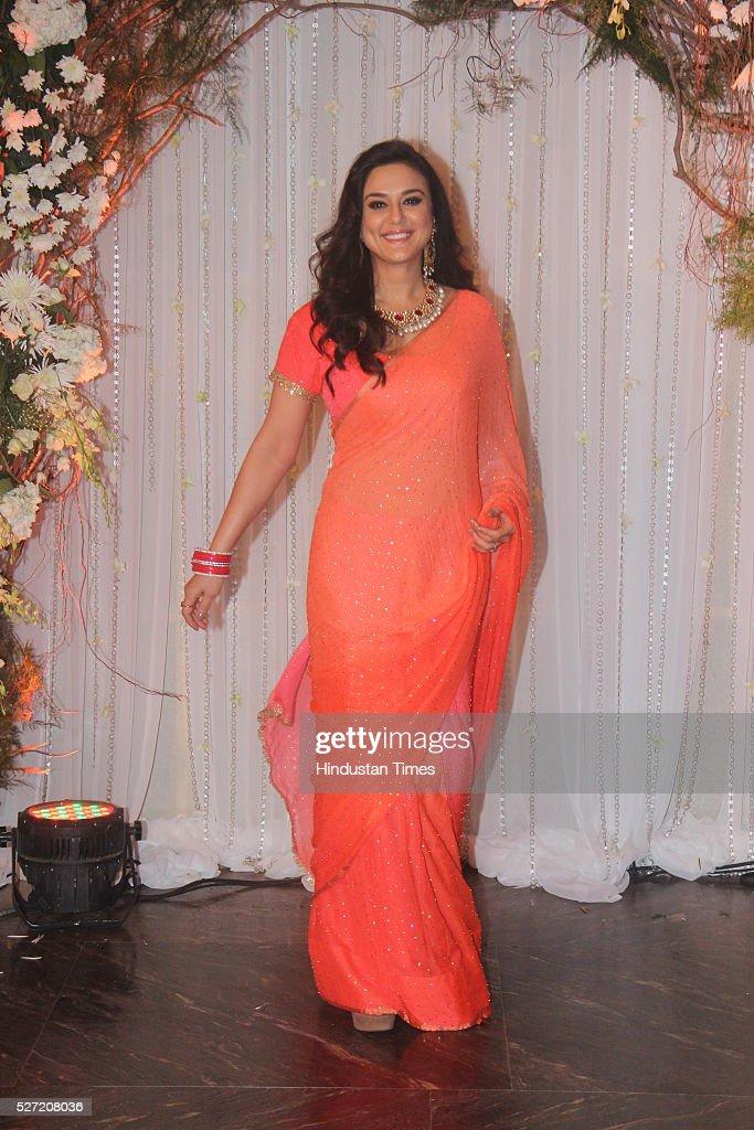 Bollywood actor Preity Zinta at wedding reception of ...