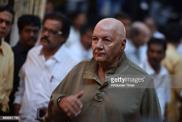 Bollywood actor Prem Chopra during a condolence meeting of late actor Shashi Kapoor at Prithvi Theatre Juhu on December 7 2017 in Mumbai India Shashi...