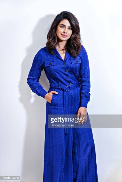 Bollywood actor Priyanka Chopra poses during an exclusive interview with HT CityHindustan Times on April 11 2018 in New Delhi India