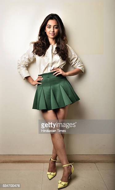 Bollywood actor Radhika Apte poses for a profile shoot at NextHet Films Santacruz on May 16 2016 in Mumbai India Her upcoming movie Phobia is a...