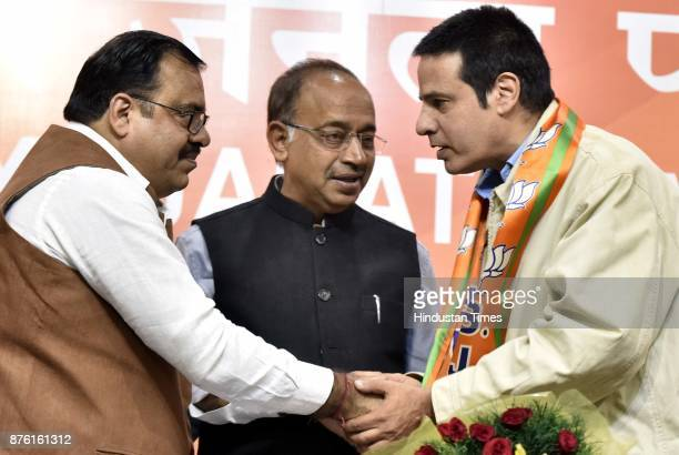 Bollywood actor Rahul Roy joined the BJP in presence of Union Minister Vijay Goel and BJP Leader Tarun Chog at the party headquarters on November 18...