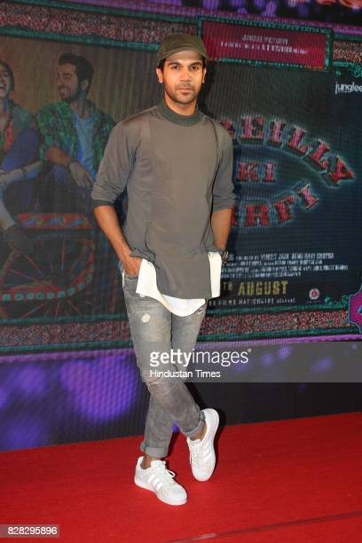 Bollywood actor Rajkummar Rao during the music launch of his upcoming film Bareilly Ki Barfi at Lord Of Drinks restaurant Andheri on August 7 2017 in...