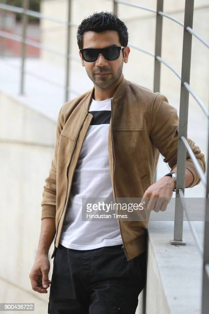 Bollywood actor Rajkummar Rao during the promotion of his upcoming web series ' Bose Dead Or Alive' at Taj Palace Hotel on November 15 2017 in New...