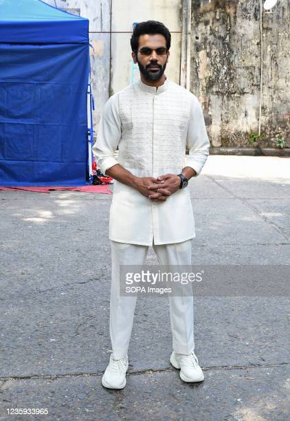 Bollywood actor Rajkummar Rao poses for a photo at Filmistan studio during a promotional event of his upcoming film 'Hum Do Hamare Do' in Mumbai.