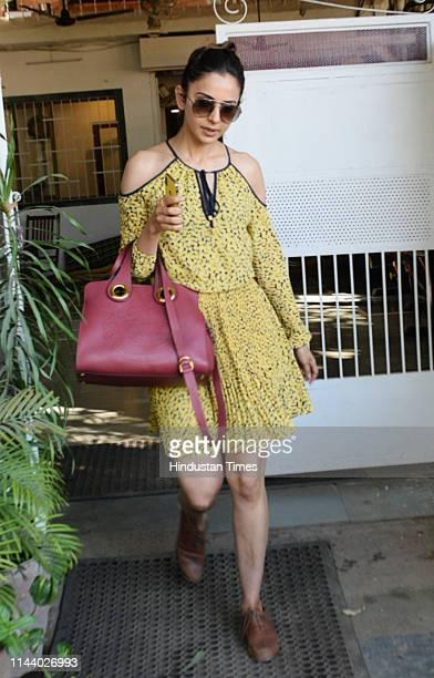 Bollywood actor Rakul Preet Singh spotted on May 10 2019 in Mumbai India